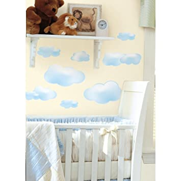 RoomMates Repositionable Childrens Wall Stickers   Clouds Part 76