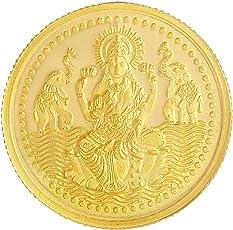 Malabar Gold & Diamonds BIS hallmarked 5 gm, 24KT (999) Yellow Gold Coin