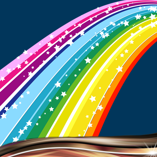 Regenbogen-Farben-Collage