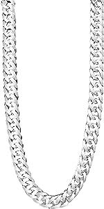 TAIPAN grande lungo doppia catena argento catena collana per uomo in vero 925 Argento Sterling 60 cm lungo 6 mm larghezza 35 grammi