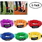 WINOMO 3 Legged Race Bands elastische Krawatte Seilriemen Geburtstag Party Spiele für Kinder Legged Race Spiel Carnival…