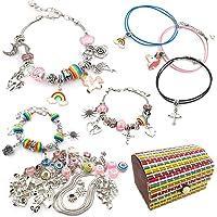 DMAXUN 70 pièces Fabrication de Bracelet Fille Kits de Bijoux, Cadeau Fille Creation Bijoux Fille 8 à 12 Ans, kit…