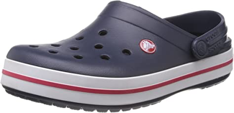 crocs Unisex Crocband Navy Clogs and Mules