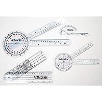 Anthroflex Lot De 4 Goniomètres : 30, 20 Centimètres, Doigt, Spinal