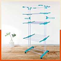 Bathla Mobidry Giga - Extra-Large 4 Level Modular Cloth Drying Stand (Blue)