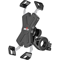 Grefay Fahrrad Handyhalterung, Edelstahl Motorrad Fahrrad Lenker Handy Halterung Mit 360 Drehen für 4,5-6,8 Zoll…