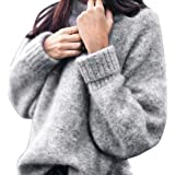 ronamick Donna Felpa A Maniche Lunghe Pullover Camicia Loose Knitwear Casual Tops Felpa specificare la Prima Valutazione per