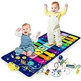Alfombra de Piano, Alfombra Musical de Teclado para Bebé, Alfombra para Piano Juguetes Musicales Regalos para Niños Niñas de
