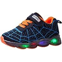 Scarpe sportive luminose a LED per bambini, con luce a fumetto, casual, da corsa, leggera, traspirante, taglia