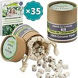 Aimez La Nature 35 Perles de Céramique EM® Grises Avec Sachet Coton Certifié Bio et Pack Ecologique Purificateur Naturel Eau