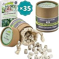 Aimez La Nature 35 Perles de Céramique EM® Grises Avec Sachet Coton Certifié Bio et Pack Ecologique Purificateur Naturel…