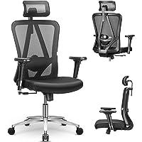 mfavour Chaise de Bureau Pivotante Siège Confortable Fauteuil de Bureau Ergonomique avec 3D Accoudoirs, Hauteur Apui…