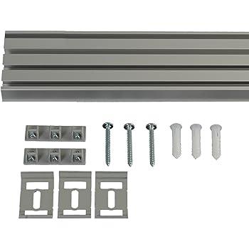 liedeco vorhangschiene 5 l ufig f r vorh nge schiebevorhang aluminium 270 cm. Black Bedroom Furniture Sets. Home Design Ideas