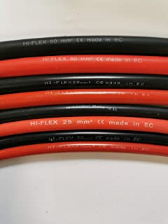 BMF DIRECT Red Battery Lead//Power Lead 110A Amp 16mm2 Cable Wire with M8 Ring Terminals 180cm Single Red - 6ft , 8mm Ring Terminals