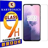 Kartronics Compatible with (Pack of 2) OnePlus 7 Premium Tempered Glass Screen Protector Slim 9H Hard 2.5D with Full Installa