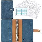 Housolution Portfolio A6 en PU Cuir, Porte Documents Multifonctionnel avec 12 Pochettes Transparentes Zippées Dossier de Conf