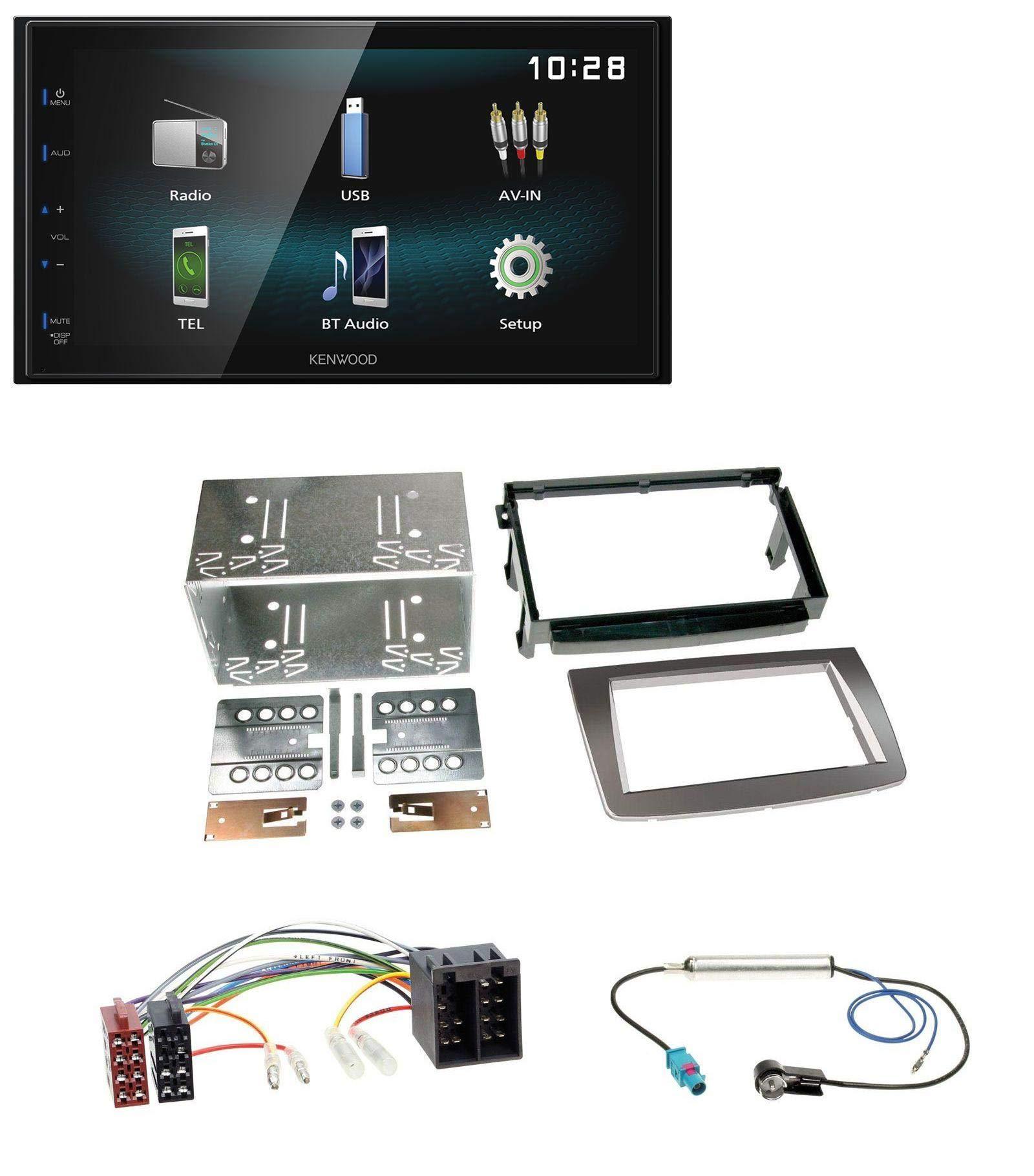 caraudio24-Kenwood-DMX120BT-AUX-Bluetooth-USB-MP3-2DIN-Autoradio-fr-Alfa-Romeo-Mito-ISO-955-08-14-Silber
