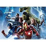 Fondo de superhéroes de Marvel, 7 x 5, diseño de Los Vengadores, Fondo de Fiesta de cumpleaños, Paisaje Urbano, Fondo de foto