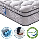 Vesgantti 4FT Small Double Mattress, 10.3 Inch Pocket Sprung Mattress Small Double with Breathable Foam and Individually Wrapped Spring - Medium Firm Feel, Classic Box Top Collection
