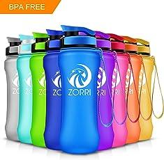 ZORRI Sport Trinkflasche auslaufsicher 1L/28oz/21oz, BPA Frei & Umweltfreundlich Wasserflasche - Für Frauen & Kinder, One Handed Open & Tritan, Für Gym/Outdoors/Camping