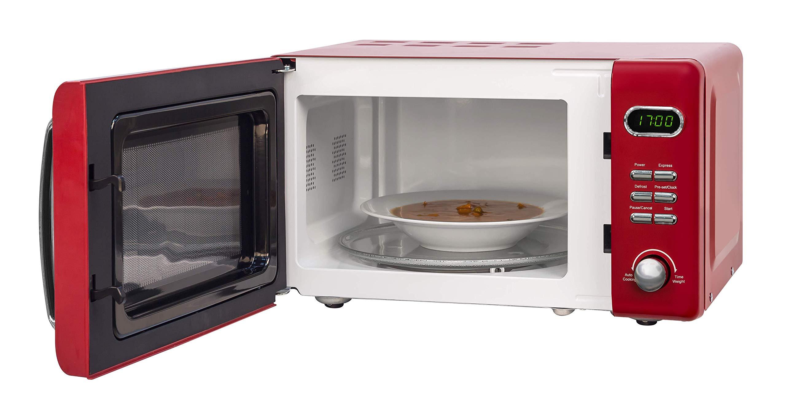 715b1lwUkYL - Russell Hobbs RHRETMD806R Solo Microwave, Red, 17 liters