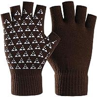 Guanti invernali senza dita unisex Donna Uomo Guanti in maglia da lavoro a mezzo dito Artrite da compressione elastica…
