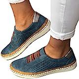 Dasongff Damen Schuhe Laufschuhe Outdoor Hohl Schuhe Freizeit Slip On Bequeme Sohlen Sports Atmungsaktiv Schuhe Leichtgewicht