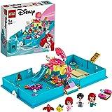 LEGO 43176 Disney Princess Ariëls Verhalenboekavonturen, Reisspel met Ariël de Kleine Zeemeermin, Prinses Speelgoed voor Kind