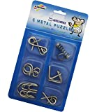 Shopaholic Stainless Steel 6 Metallic Intellectual Puzzles for All Age Groups.