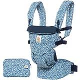 Ergobaby Baby Carrier 4 Position Omni 360 Batik Indigo Front Back Baby Carrier Infant, Body Carrier Front Facing for Men…