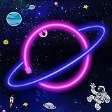 LTXDJ Planet Neonlicht, LED-Schilder Neonschilder LED Planet Sign Planet Neonlichter, Akku oder USB betrieben Planet Licht De