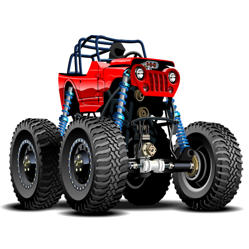 Extreme Monster truck racing games: Speedway driving games for kids (Jam-trucks Mini-monster)
