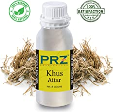 PRZ Khus Attar For Unisex (30 ML) - Pure Natural Premium Quality Perfume (Non-Alcoholic)