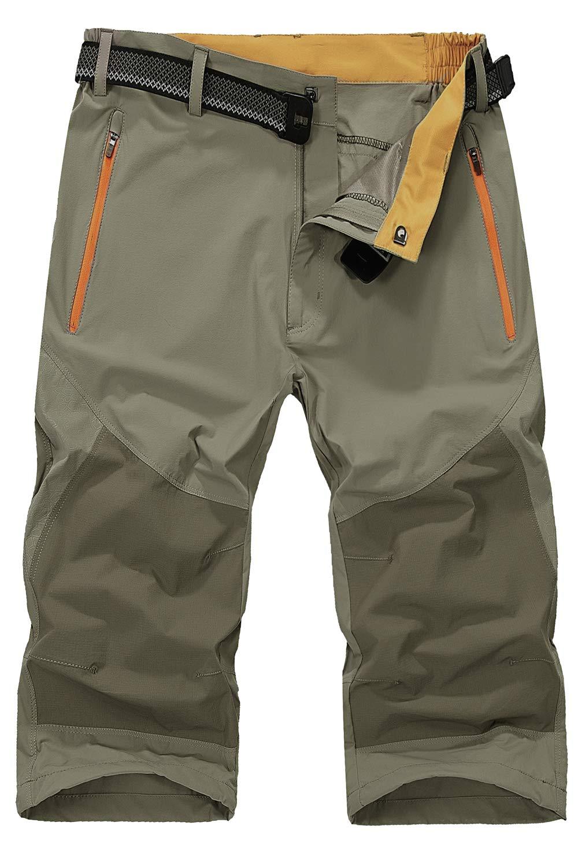 715e%2BCHWkwL - Mr.Stream Men's Water Resistan Classic Bermuda Beach Quick Drying Cargo Shorts 3/4 Capris Walking Casual Cropped Trousers