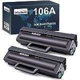 OfficeWorld W1106A Cartucce Toner Ricambio per HP 106A W1106A (2 Nero, con Chip) Compatibile con HP Laser MFP 137fnw 137fwg 1