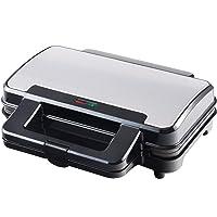 Venga! VG SM 3007 Appareil à sandwiches en acier inoxydable, métal et plastique, 900 W, Noir