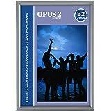 OPUS 2 Cadre Snap B1, 25 mm, Fabrication en aluminium anodisé et couche anti-éblouissement, pinces pour affichages de posters