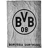 Borussia Dortmund BVB 09 BVB-Fleecedecke (grau)