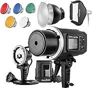 Godox AD600BM 600WS GN87HSS Outdoor-flaş flaş flaş Cep telefonu Blitz başlık, 23x 23inç stüdyo ışığı, Canon Nikon Sony DS