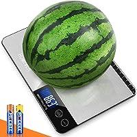 HOMEVER Balance Cuisine, 15kg Balance de Cuisine Electronique de Haute Précision, LCD Rétroéclairé Acier Inoxydable…