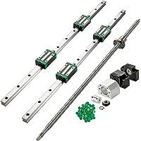 Keyren Linear Guide Rail 300mm 1pc Steel High Precision Miniature Linear Sliding Rail Guide Block 200mm 300mm 500mm