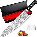 """MOSFiATA 10 """"couteau de chef couteau de cuisine à haute teneur en carbone EN1.4116 couteau en acier inoxydable couteau pleine"""