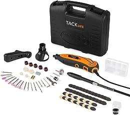 Tacklife RTD35ACL Strumento Multifunzione,Utensile Rotante con 80 Accessori e 3 Allegati, Mini Drill con Velocita' Variabile Progettazione Aerodinamica per Incidere, Tagliare, Lucidare, Levigare, Trapanare ecc