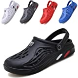 CYian Mens Womens Garden Clogs Quick-Dry Mesh Slipper Lightweight Sandals with Adjustable Strap Non-Slip Water Shoes for Indo