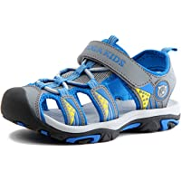 SAGUARO Sandals Kids Summer Outdoor Boys and Girls Closed Toe Lightweight Breathable Trekking Beach Shoes