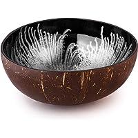Bol ccocovibes en noix de coco, bol décoratif en forme de bouddha fait à la main, argenté laqué