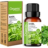 Organix Treasure Basil Essential Oil Pure, Natural & Undiluted Therapeutic Grade for Perfect For Cough, Colds, Clear…