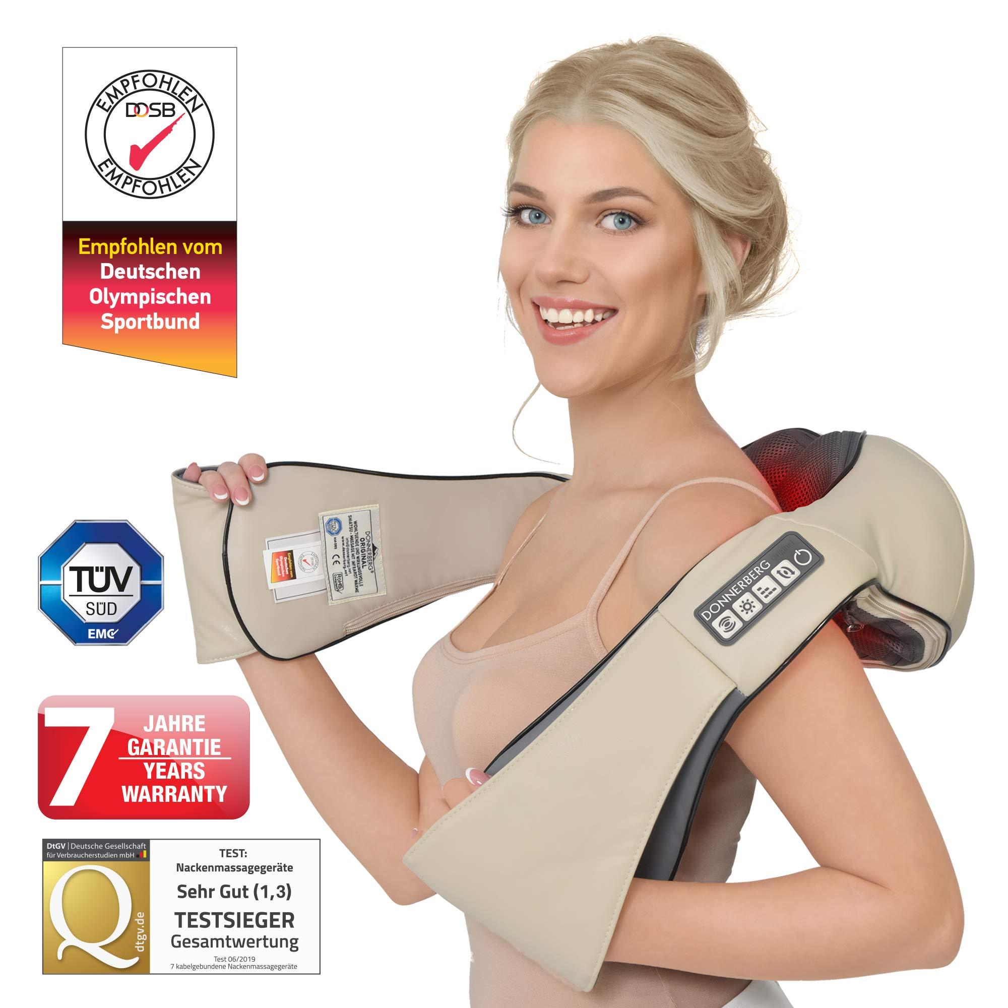 Donnerberg NM089 beige Shiatsu Nackenmassagegerät, 4D Vibration