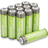 Amazon Basics AA High-Capacity Rechargeable Batteries 2400mAh (12-Pack) Pre-charged