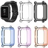 EEweca 5-Pack Protector Case for Amazfit Bip Smartwatch Soft TPU Bumper Shell